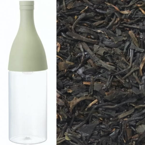 Hario Mizudashi filter-in-bottle + Chiran Kōcha, økologisk japansk sort te
