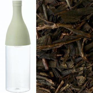 Hario aisne filter-in-bottle incl. 90g naturally farmed Kamo Hōjicha