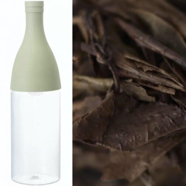 Hario aisne mizudashi filter-in-bottle inkl 90g økologisk japansk hōjicha fra Tsukigase Kenkō Chaen