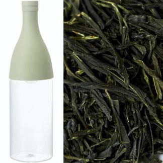 Hario aisne mizudashi filter-in-bottle incl 100g organic Tsukigase sencha