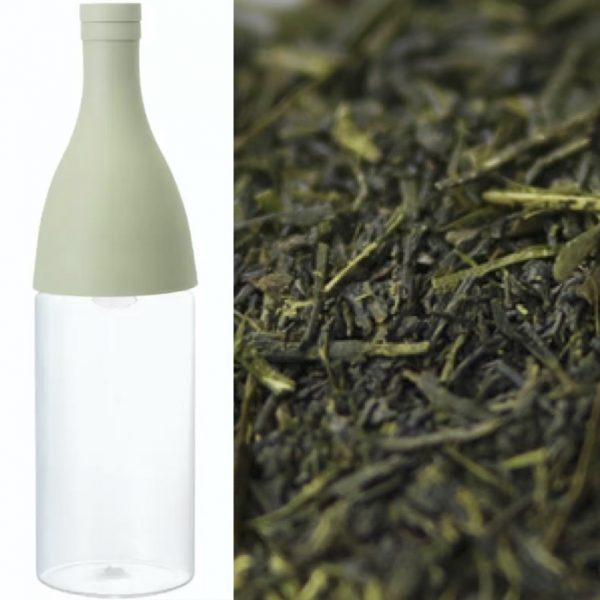 Hario Aisne Mizunashi cold brew filter-in-bottle inkl Chiran farmer's sencha